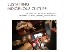 Sustaining Indigneous Culture: The Structure, Activities, and Needs of Tribal Archives, Libraries, and Museums