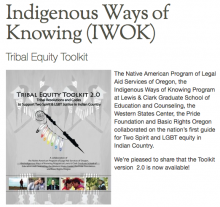 Tribal Equity Toolkit: Sample Tribal Resolutions and Codes to Support Two Spirit & LGBT Justice in Indian Country