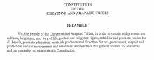 Cheyenne and Arapaho Tribes: Legislative Functions Excerpt
