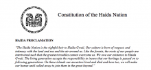 Haida Nation: Preamble Excerpt