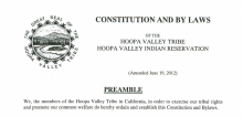 Hoopa Valley Tribe: Recall, Removal, & Vacancies Excerpt