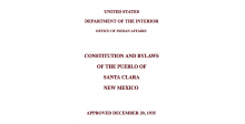 Pueblo of Santa Clara: Legislative Functions Excerpt