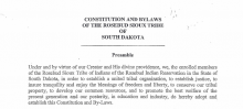 Rosebud Sioux Tribe: Legislative Functions Excerpt