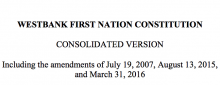 Westbank First Nation: Jurisdiction/Territory Excerpt