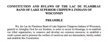 Lac du Flambeau Band of Lake Superior Chippewa Indians of Wisconsin: Governmental Structure Excerpt