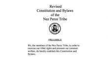 Nez Perce Tribe: Legislative Functions Excerpt