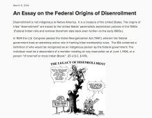 An Essay on the Federal Origins of Disenrollment