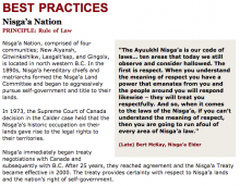 Best Practices Case Study (Rule of Law): Nisga'a Nation