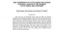 The Commission on State-Tribal Relations: Enduring Lessons in the Modern State-Tribal Relationship
