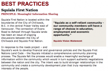 Best Practices Case Study (Meaningful Information Sharing): Squiala First Nation