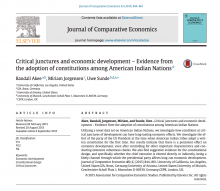 Critical junctures and economic development - evidence from the adoption of constitutions among American Indian nations