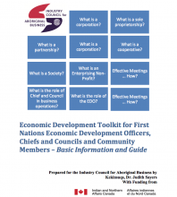 Economic Development Toolkit for First Nations Economic Development Officers, Chiefs and Councils and Community Members – Basic Information and Guide