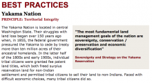 Best Practices Case Study (Territorial Integrity): Yakama Nation