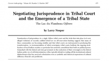 Negotiating Jurisprudence in Tribal Court and the Emergence of a Tribal State: The Lac du Flambeau Ojibwe