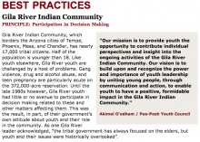 Best Practices Case Study (Participation in Decision Making): Gila River Indian Community