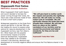 Best Practices Case Study (Economic Realization): Hupacasath First Nation