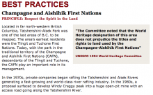 Best Practices Case Study (Respect the Spirit in the Land): Champagne and Aishihik First Nations