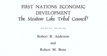 First Nations Economic Development: The Meadow Lake Tribal Council