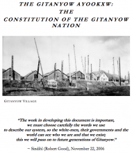 The Gitanyow Ayookxw: The Constitution of the Gitanyow Nation