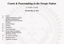Courts & Peacemaking in the Navajo Nation: A Public Guide