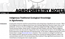 Indigenous Traditional Ecological Knowledge in Agroforestry
