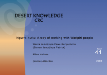 Ngurra-kurlu: A way of working with Warlpiri people