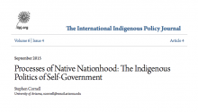 Processes of Native Nationhood: The Indigenous Politics of Self-Government