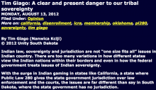 A clear and present danger to our tribal sovereignty
