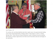 American Indian tribe OKs same-sex marriage, lets gay couple wed