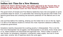 Indian Act: Time for a New Memory
