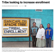 Tribe looking to increase enrollment