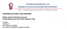San Carlos Apache Elders Cultural Advisory Council