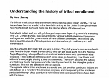Understanding the history of tribal enrollment