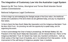 The Integration of Customary Law into the Australian Legal System