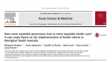 Does more equitable governance lead to more equitable health care? A case study based on the implementation of health reform in Aboriginal health Australia