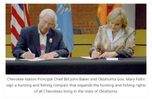 Historic agreement between Cherokee Nation and state of Oklahoma expands hunting and fishing rights for Cherokees