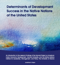Determinants of Development Success in the Native Nations of the United States (English)