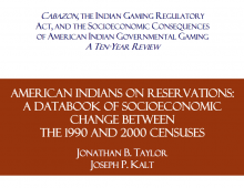 American Indians on Reservations: A Databook of Socioeconomic Change Between the 1990 and 2000 Censuses