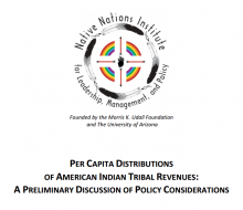 Per Capita Distributions of American Indian Tribal Revenues: A Preliminary Discussion of Policy Considerations