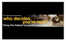 Federal Recognition Process: A Culture of Neglect