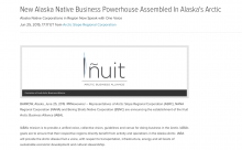 New Alaska Native Business Powerhouse Assembled In Alaska's Arctic
