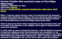 New economic hope on Pine Ridge Reservation