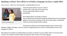 Speaking a culture: How efforts to revitalize a language can have a ripple effect