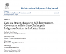 Data as a Strategic Resource: Self-determination, Governance, and the Data Challenge for Indigenous Nations in the United States