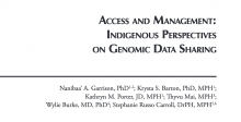 Access and Management: Indigenous Perspectives on Genomic Data Sharing