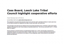 Cass Board, Leech Lake Tribal Council highlight cooperative efforts