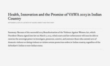 Health, Innovation and the Promise of VAWA 2013 in Indian Country