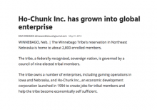 Ho-Chunk, Inc. has grown into global enterprise