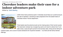 Cherokee leaders make their case for a indoor adventure park