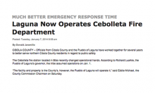 Laguna Now Operates Cebolleta Fire Department